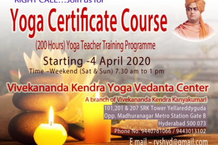 Yoga Certicate Course at Hydrabad