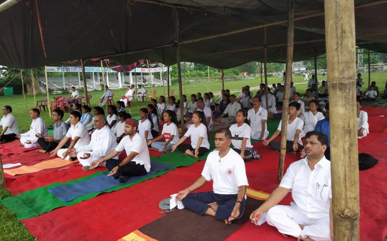 International Day Of Yoga 2019 celebrated at Arunachal Pradesh