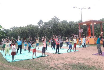INTERNATIONAL YOGA DAY CELEBRATION AT PASCHIM BANGA PRANT