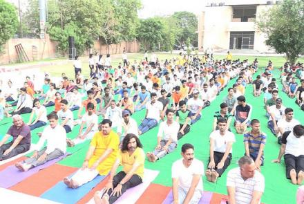 INTERNATIONAL YOGA DAY CELEBRATION RAJASTHAN PRANT 2018