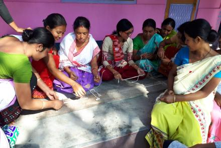 workshop of weaving in Mangaldoi