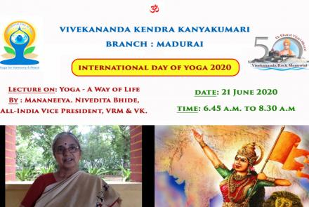 International Day of Yoga at VK Madurai